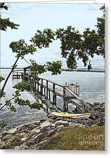 Senic View Greeting Cards - River Walk on the Indian River Lagoon Greeting Card by Allan  Hughes