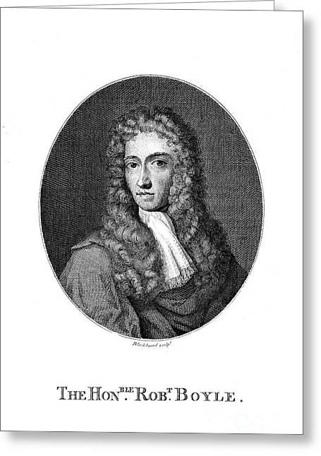 Boyle Greeting Cards - Robert Boyle (1627-1691) Greeting Card by Granger