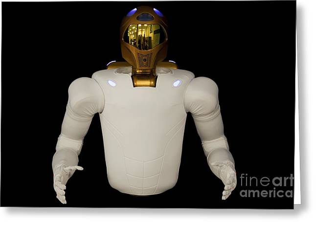 Dexterity Greeting Cards - Robonaut 2, A Dexterous, Humanoid Greeting Card by Stocktrek Images