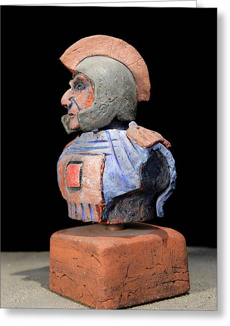 Archeology Ceramics Greeting Cards - Roman Legionaire - Warrior - ancient Rome - Roemer - Romeinen - Antichi Romani - Romains - Romarere  Greeting Card by Urft Valley Art