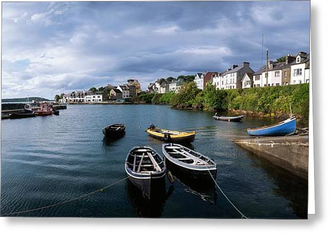 Ocean Panorama Greeting Cards - Roundstone, Connemara, Co Galway Greeting Card by The Irish Image Collection