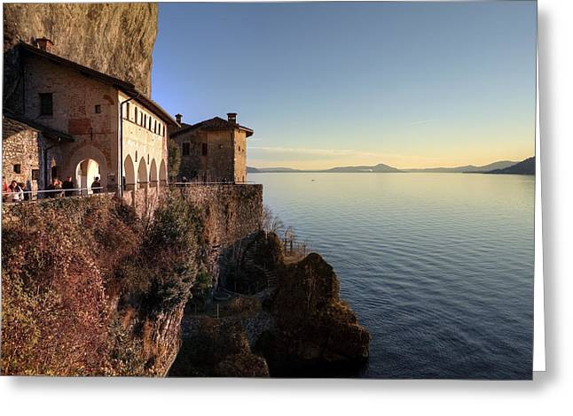 Hermit Greeting Cards - Santa Caterina del Sasso Greeting Card by Joana Kruse
