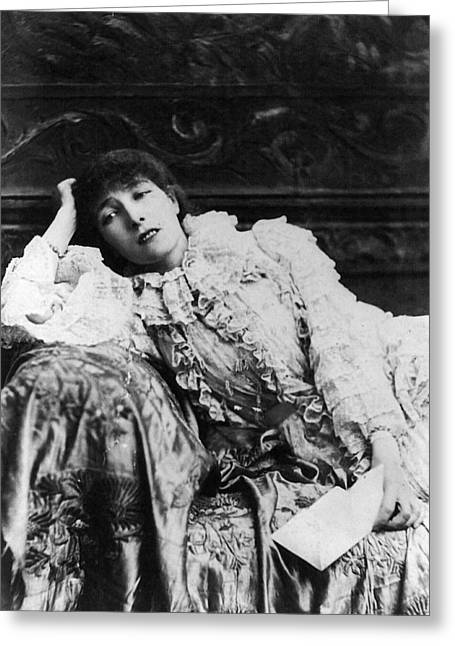 Divan Greeting Cards - Sarah Bernhardt Greeting Card by Granger