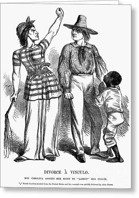 Divorce Greeting Cards - Secession Cartoon, 1861 Greeting Card by Granger
