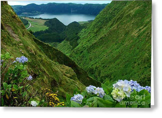 Azores Greeting Cards - Sete Cidades - Azores Greeting Card by Gaspar Avila