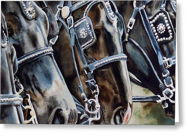 4 Shires Greeting Card by Nadi Spencer