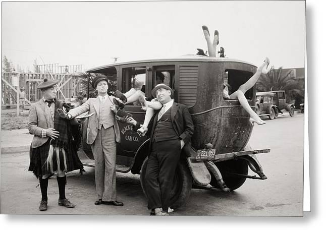 American Automobiles Greeting Cards - Silent Film: Automobiles Greeting Card by Granger