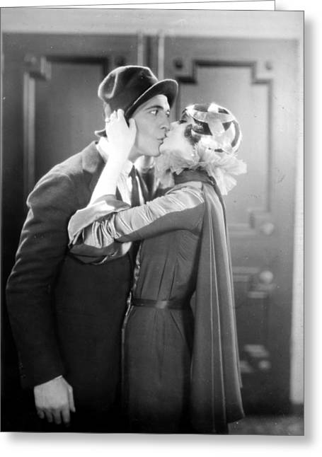 Ecromance Greeting Cards - Silent Film Still Greeting Card by Granger