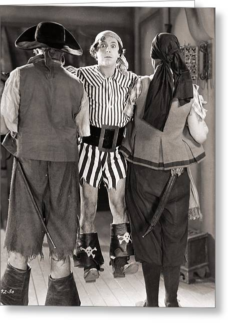 Lupino Greeting Cards - Silent Film Still: Pirates Greeting Card by Granger