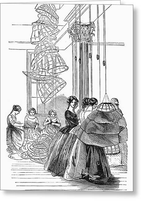 Skirt Factory, 1859 Greeting Card by Granger