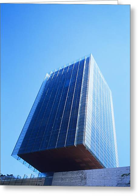 Overhang Greeting Cards - Skyscraper Greeting Card by Carlos Dominguez