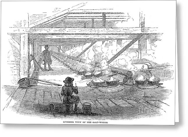 Black Commerce Greeting Cards - Slave Labor, 1857 Greeting Card by Granger