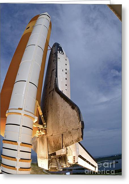 Blastoff Greeting Cards - Space Shuttle Endeavour Lifts Greeting Card by Stocktrek Images