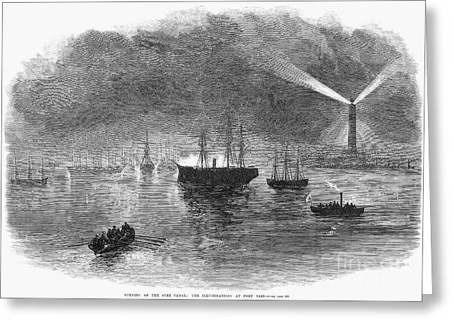 Opening Night Greeting Cards - Suez Canal: Opening, 1869 Greeting Card by Granger