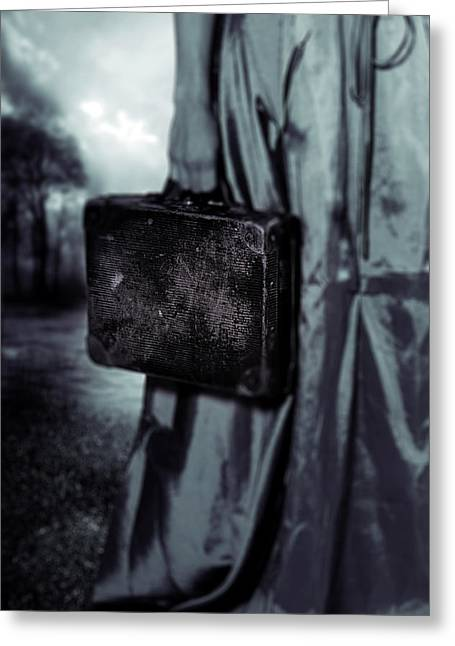 Farewell Greeting Cards - Suitcase Greeting Card by Joana Kruse