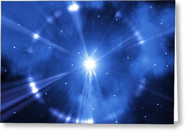 Gamma Ray Burst Greeting Cards - Supernova Explosion, Artwork Greeting Card by Mehau Kulyk