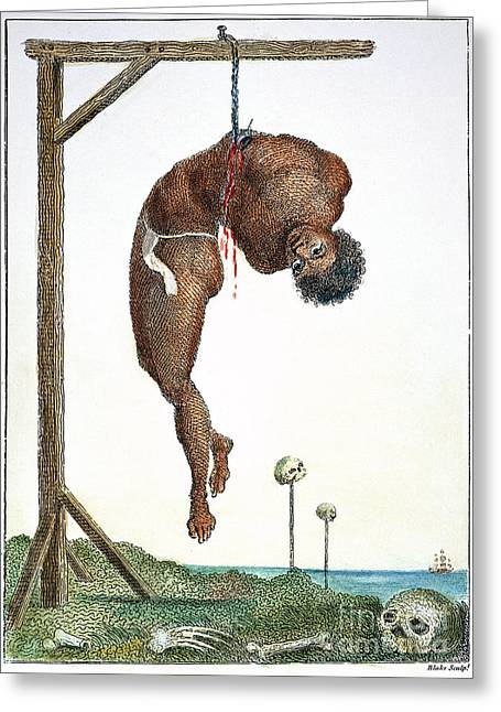 Surinam: Punishment, 1796 Greeting Card by Granger