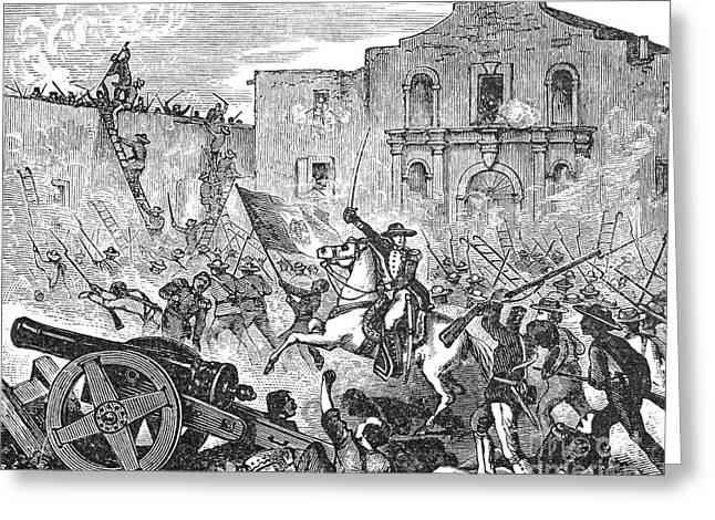 Texas Revolution Greeting Cards - Texas: The Alamo, 1836 Greeting Card by Granger