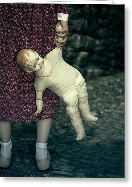 Hands Behind Back Greeting Cards - The Doll Greeting Card by Joana Kruse
