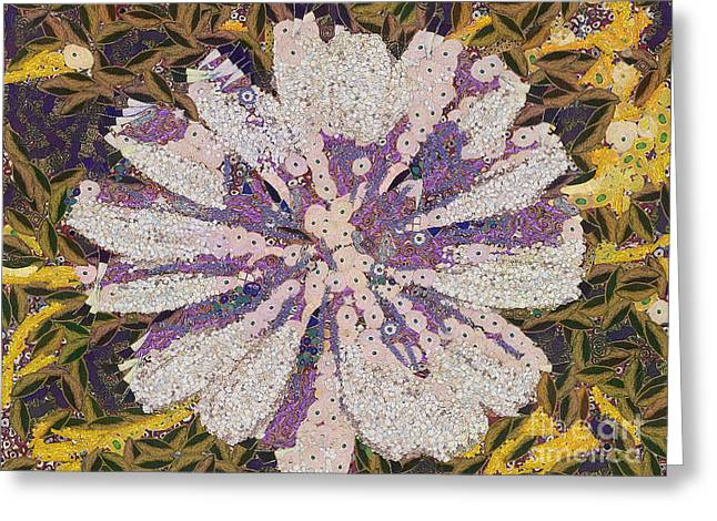 Wildlife Celebration Paintings Greeting Cards - The flower Greeting Card by Odon Czintos