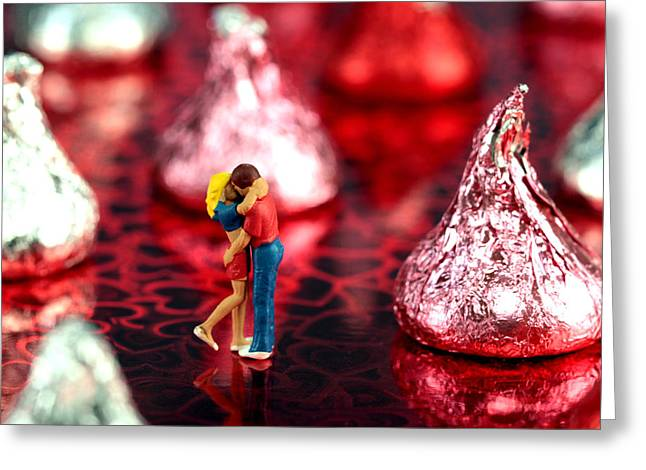 Sweetly Greeting Cards - The Lovers in Valentines Day Greeting Card by Paul Ge