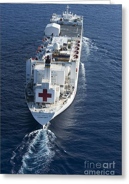 Continuing Greeting Cards - The Military Sealift Command Hospital Greeting Card by Stocktrek Images