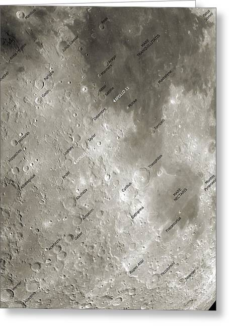 Selenology Greeting Cards - The Moon From Space, Artwork Greeting Card by Detlev Van Ravenswaay