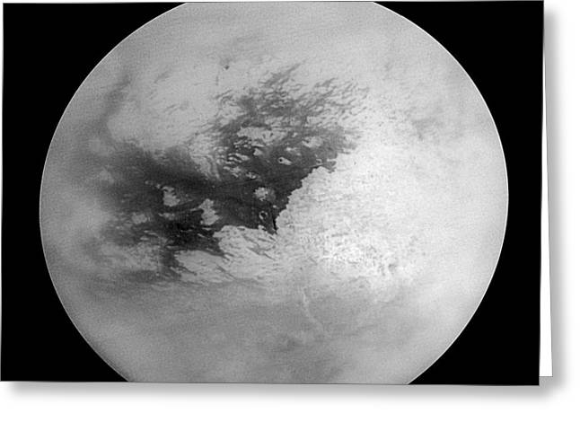 21st Greeting Cards - Titan, Cassini Image Greeting Card by NASA / Science Source