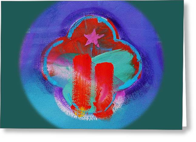 Abstract Forms Pastels Greeting Cards - Two  Greeting Card by Charles Stuart
