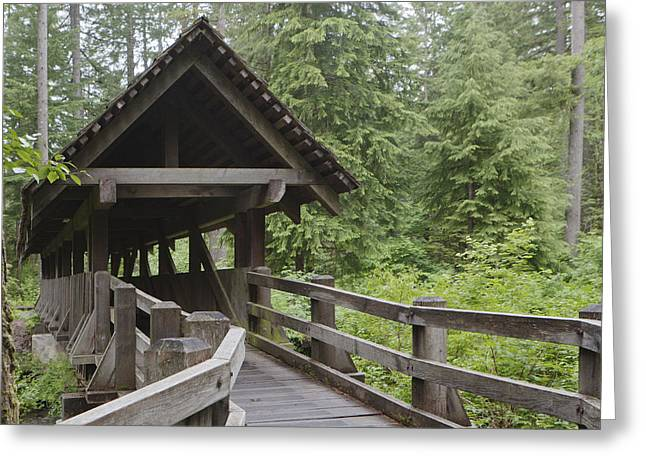 Covered Bridge Greeting Cards - Untitled Greeting Card by Douglas Orton