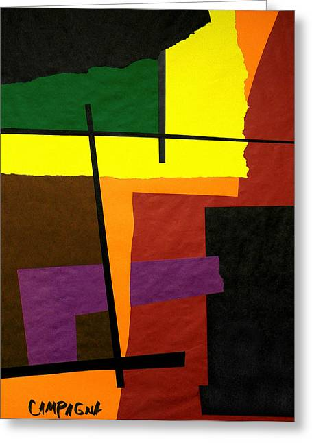 Colors Tapestries - Textiles Greeting Cards - Untitled Greeting Card by Teddy Campagna