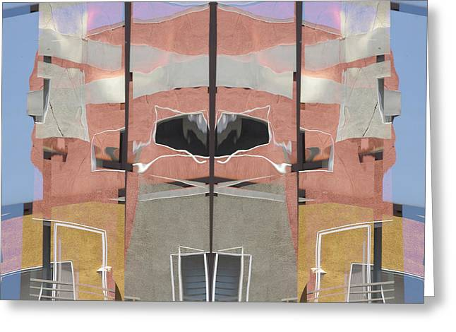 Detailed City Greeting Cards - Urban Abstract San Diego Greeting Card by Carol Leigh