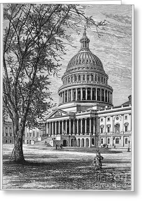U.s. Capitol Greeting Card by Granger