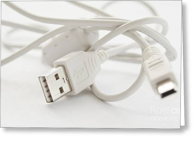 Selection Greeting Cards - USB cable Greeting Card by Blink Images