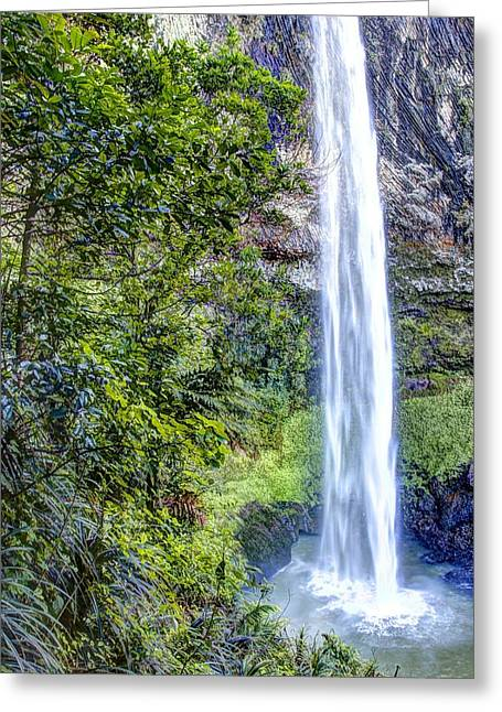 Cascade Greeting Cards - Waterfall Greeting Card by Les Cunliffe