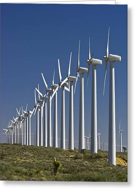 Generators Greeting Cards - Wind Turbines Greeting Card by David Nunuk