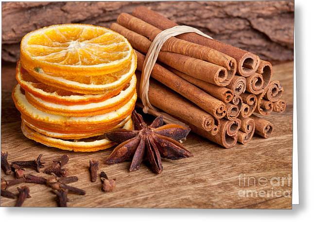 Recently Sold -  - Table Wine Greeting Cards - Winter Spices Greeting Card by Nailia Schwarz