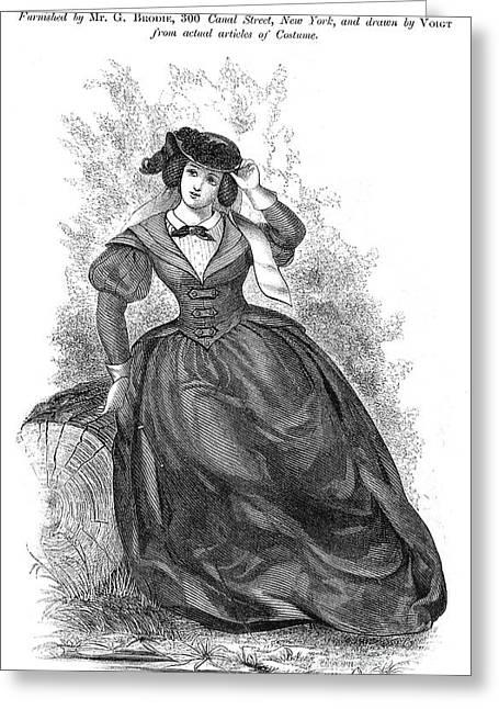 Womens Fashion, 1860 Greeting Card by Granger