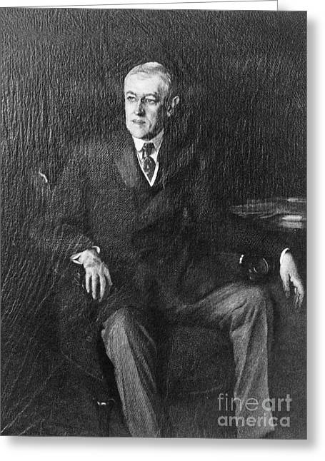 Cole Greeting Cards - Woodrow Wilson (1856-1924) Greeting Card by Granger