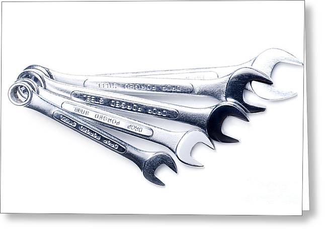 Sizes Greeting Cards - Wrenches Greeting Card by HD Connelly
