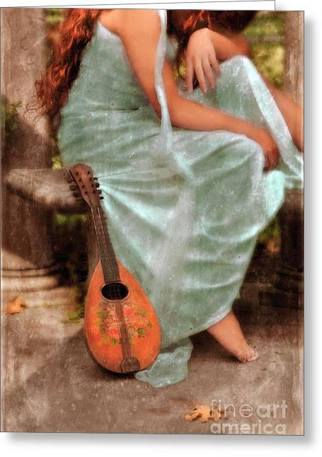 Egyptian Goddess Greeting Cards - Young Woman as a Classical Woman of Ancient Egypt Rome or Greece Greeting Card by Jill Battaglia