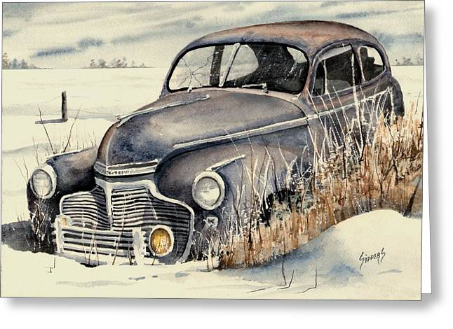 Auto Greeting Cards - 40 Chevy Greeting Card by Sam Sidders