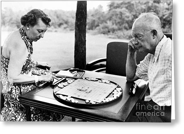 First-lady Greeting Cards - Dwight D. Eisenhower Greeting Card by Granger