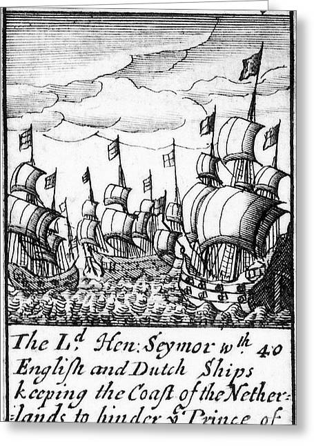 Playing Cards Greeting Cards - Spanish Armada, 1588 Greeting Card by Granger