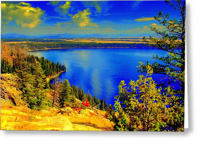 Sunset Greeting Cards Greeting Cards - Yellowstone Park Greeting Card by Aron Chervin