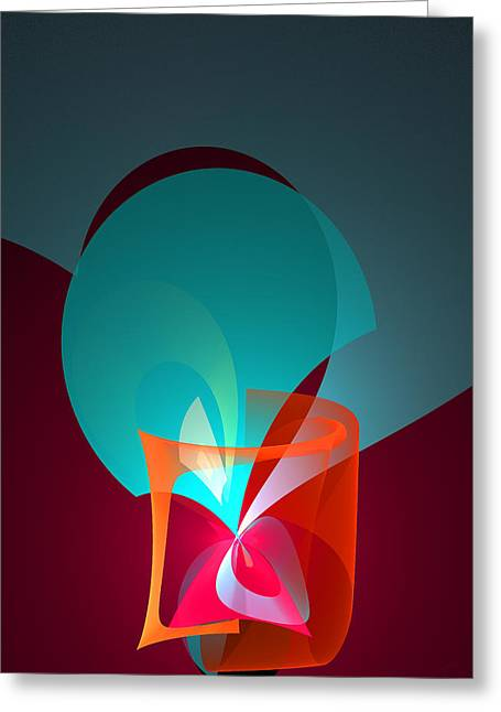 Generative Abstract Greeting Cards - 409 Greeting Card by Lar Matre