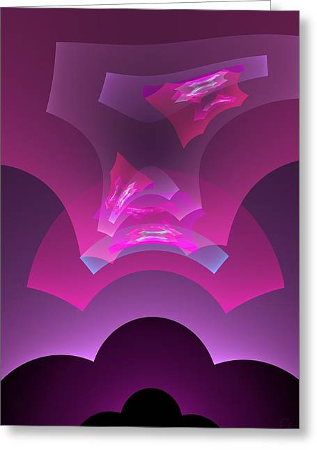Generative Abstract Greeting Cards - 412 Greeting Card by Lar Matre