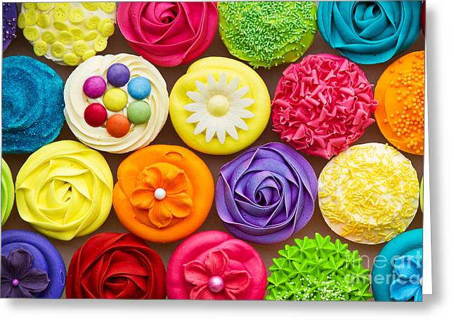 Frosting Greeting Cards - Cupcakes Greeting Card by Ruth Black