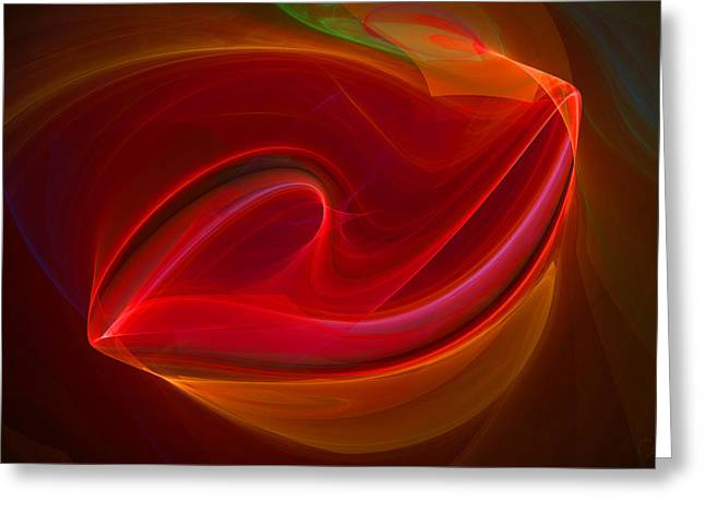 Generative Abstract Greeting Cards - 423 Greeting Card by Lar Matre