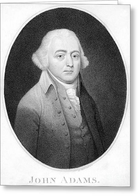 Tiebout Greeting Cards - John Adams (1735-1826) Greeting Card by Granger